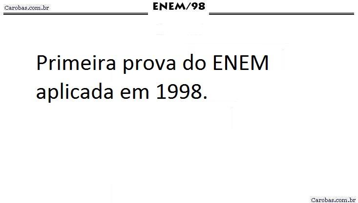 Instruções ENEM 1998 PROVA AMARELA