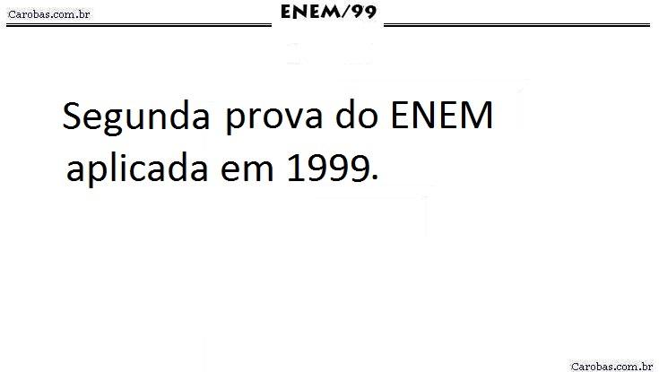 Instruções ENEM 1999 PROVA AMARELA
