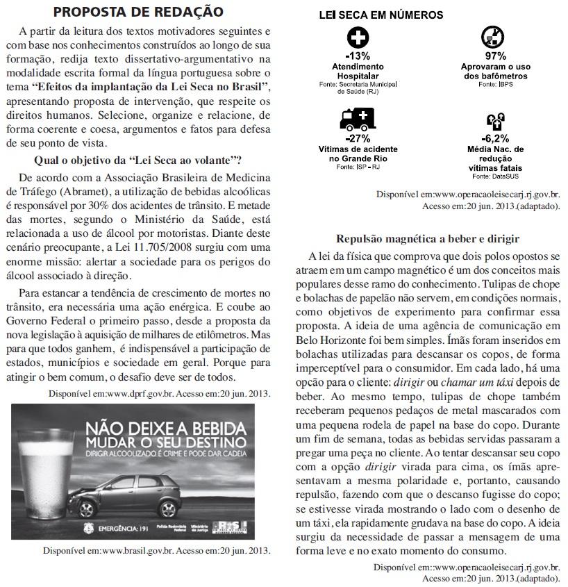 Redação ENEM 2013 PROVA DIA2