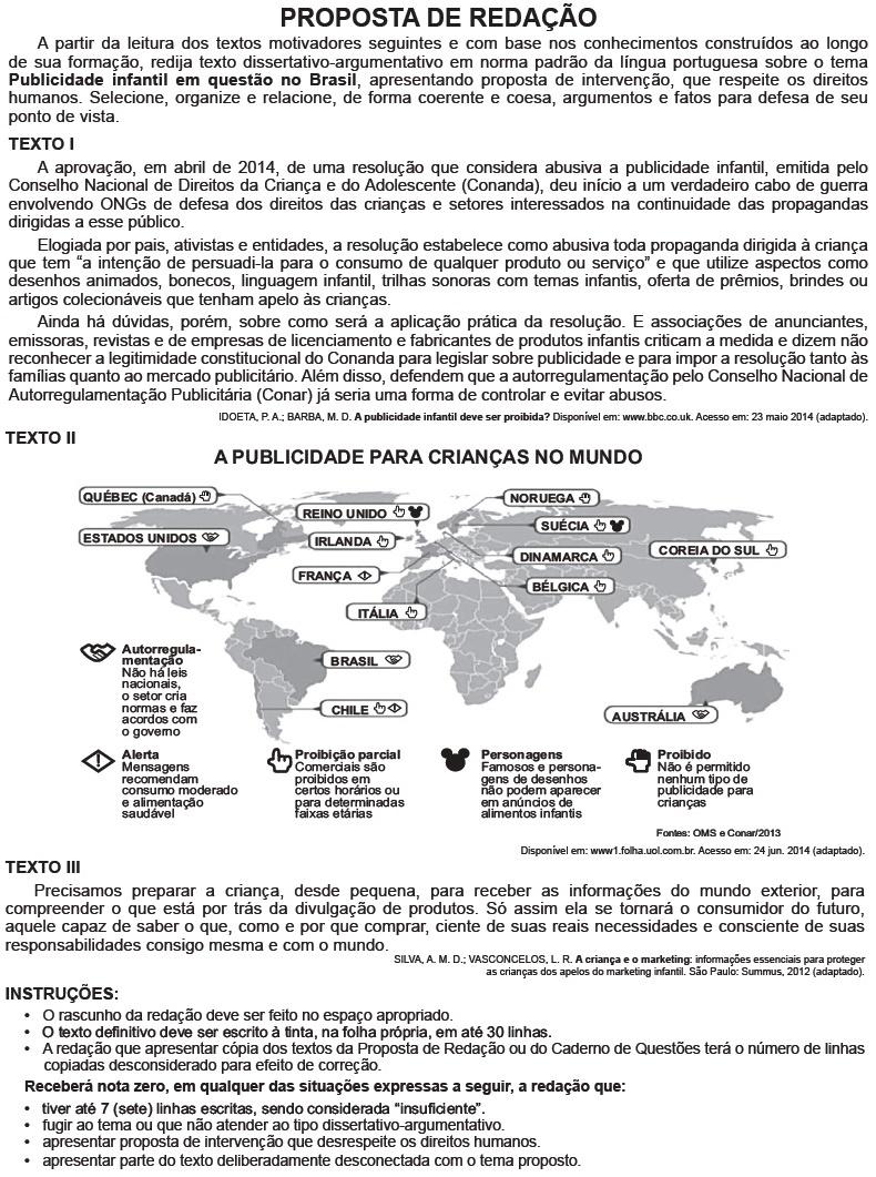 Redação ENEM 2014 PROVA DIA2