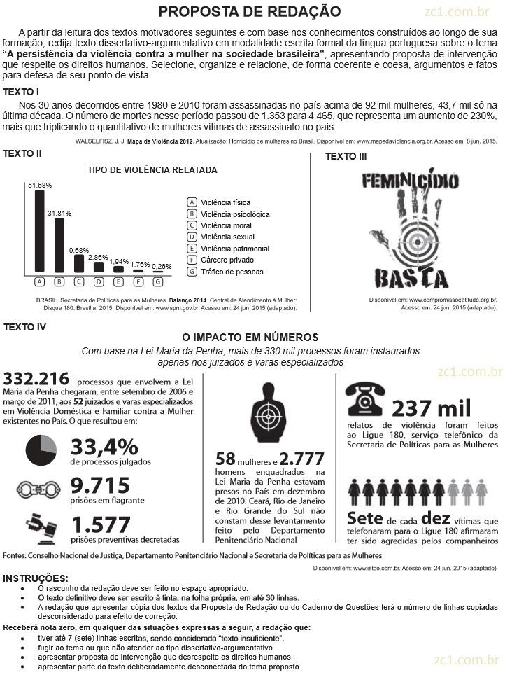 Redação ENEM 2015 PROVA DIA2